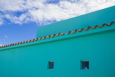 detail shot of part of a building in mexico