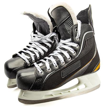 Male ice skate isolate against white background Stockfoto