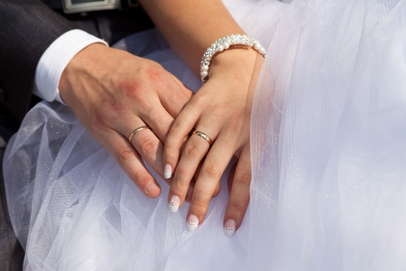 ring light: Hands and wedding rings