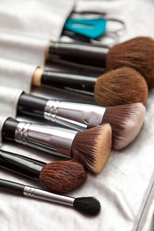 Brushes for a make-up photo