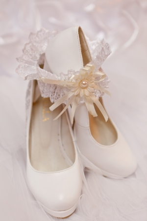 Wedding footwear and garter