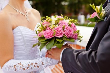 buttonhole: Wedding bouquet
