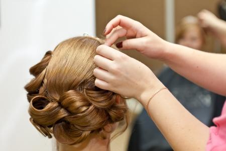 hochzeitsfrisur: Hochzeit Frisur Lizenzfreie Bilder