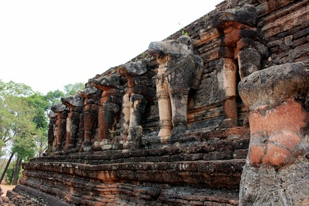 Ancient remains place in history Kamphaeng Phet park in Thailand