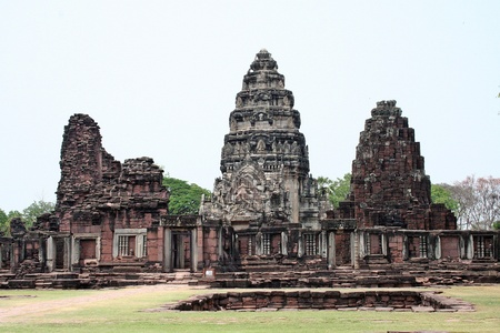 Ancient remains,  in PIMAI HISTORICAL PARK at Thailand, get build long ago, in Cambodian powerful time.