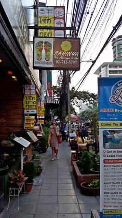 BANGKOK, THAILAND – APRIL 20, 2018:  Photograph,  this is state of BANGKOK community.