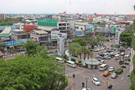 UDONTHANI, THAILAND – APRIL 28, 2018:  Photograph,  this is state of UDONTHANI community. Редакционное