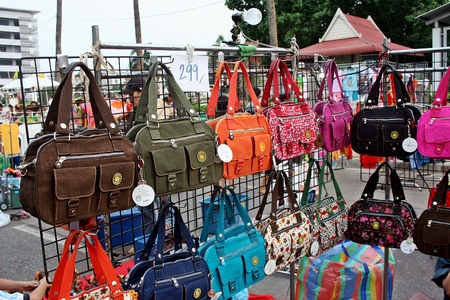 UDONTHANI, THAILAND – JUNE 15, 2018 :  The temporary market,  serve for buy goods between 17.00-22.00 oclock on Friday and Saturday every week,  at UDONTHANI province THAILAND.