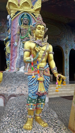 The statue that figure copy from imagination in myth,  be at BAN RAI temple in NAKHONRATCHASIMA province THAILAND.