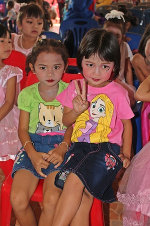 UDONTHANI, THAILAND – JANUARY 12, 2019:  This is photograph about the activity of Children's Day at NONG WANG NON KHI LEK school in UDONTHANI province THAILAND. Redakční
