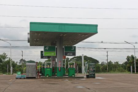 UDONTHANI, THAILAND – JANUARY 4, 2020:  This picture is oil station,  see at UDONTHANI province and see general one in THAILAND.