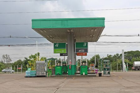 UDONTHANI, THAILAND – JANUARY 4, 2020:  This picture is oil station,  see at UDONTHANI province and see general one in THAILAND. Reklamní fotografie - 137282785