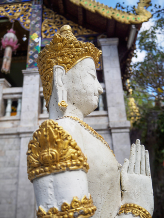 faerie: Buddhas four tracks,  Wat four joints. Saluang district, Mae Rim, Chiang Mai.  Patrkap most important symbol of the great universe. Stock Photo