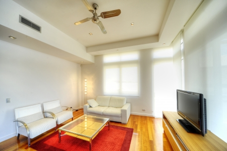 ceiling fan: modern living room