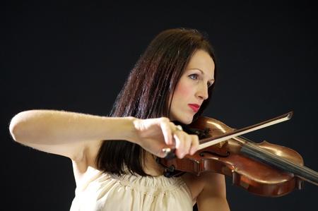 female violinist