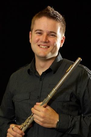 Male flutist photo