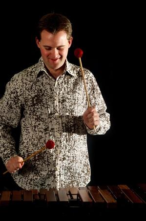male xylophonist  Stock Photo