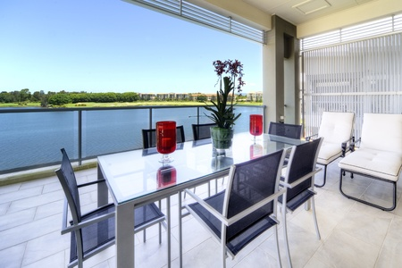 Sunny balcony photo