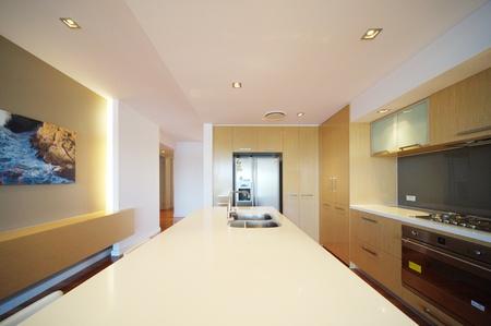 modern integrated kitchen photo