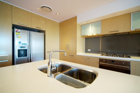 modern integrated kitchen Stock Photo