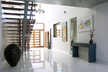 staircase and atrium of a modern luxury house Stock Photo - 9084775