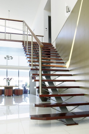 staircase and atrium of a modern luxury house Stock Photo - 9084759