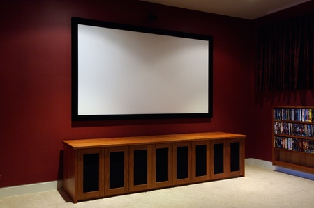 projections: Home theatre Stock Photo