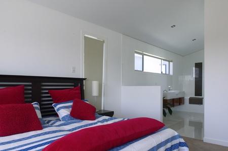 Modern bedroom with en-suite bathroom