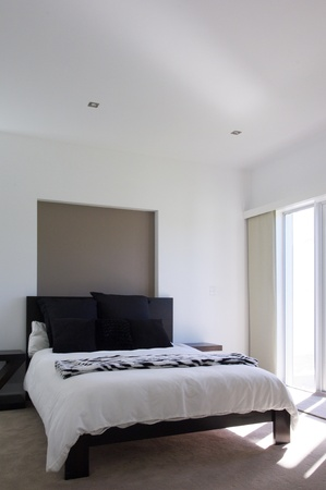 Modern luxury bedroom photo