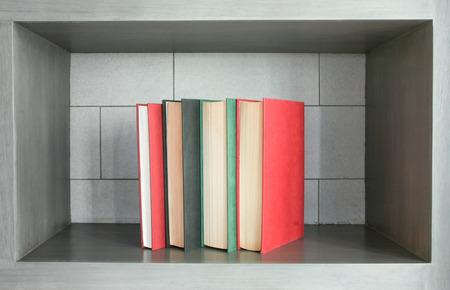 bedeck: books in vertical arrangement for decor