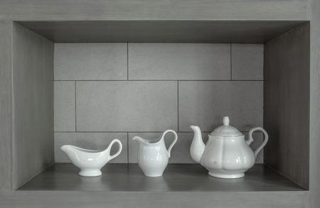 bedeck: white Tea ceramic pot decoration set