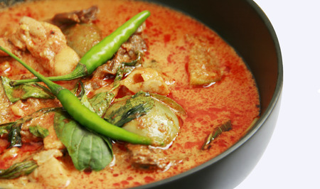 close up Panaeng curry is a type of Thai curry