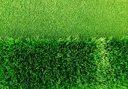two tone: Two tone of artificial green grass for deco Stock Photo