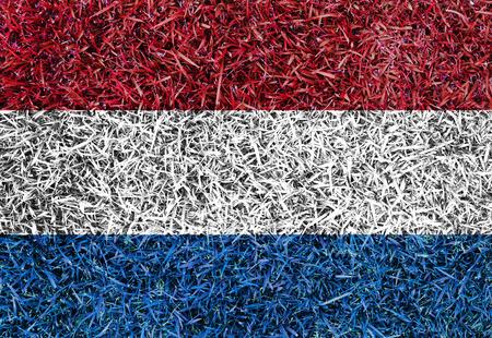 drapeau hollande: Drapeau Hollande couleur herbe texture de fond Banque d'images