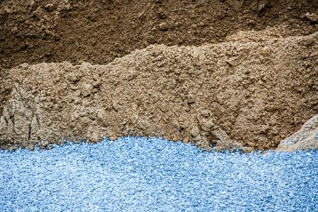 layer of stone sand soil texture photo