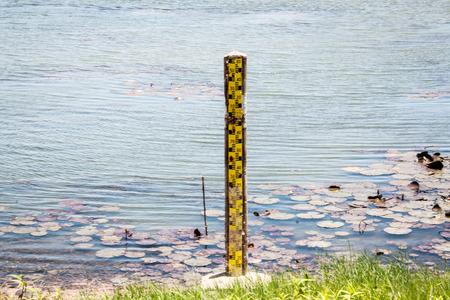 Water level gauge of barrage at Thailand photo