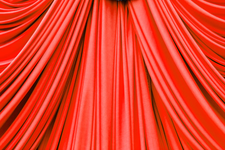 red curtain: red curtain texture for background Stock Photo