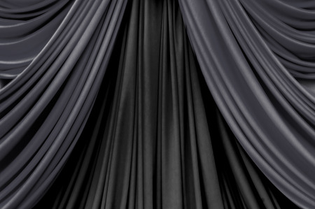 curtains: two tone of black curtain on stage curtain on stage for luxuary background