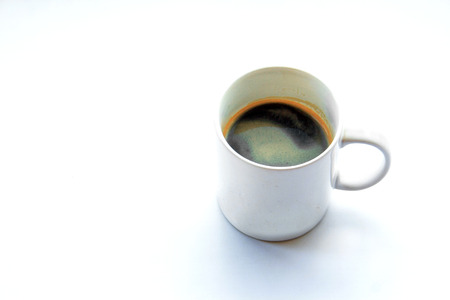 americano: americano coffee in ceramic mug on light background