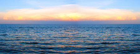 horizental: sunset at the sea for wallpaper