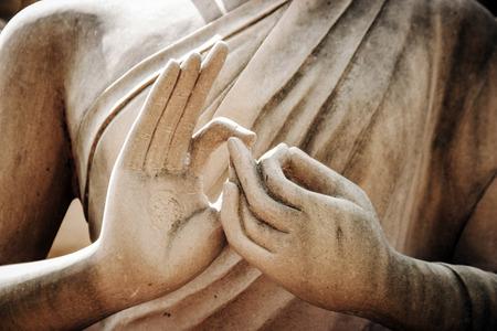close up buddha statue hand outdoor Reklamní fotografie