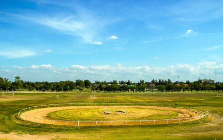 Race track of Horse field landscape Stock Photo