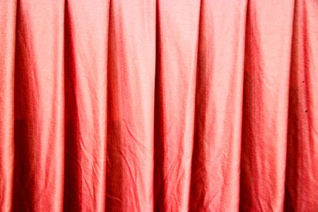soft furnishing: close up red curtain for background Stock Photo