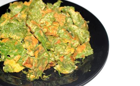 omlet: close up acacia omlet thai food