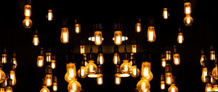 tungsten: tungsten light tube in dark background for deco Stock Photo