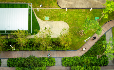 top view of public garden park Reklamní fotografie