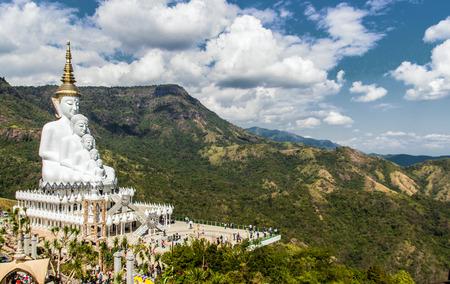 big buddha: famous Buddhism Thailand temple call Pha Sorn Keaw ,Landmark of Koa ko,Petchaboon province Stock Photo