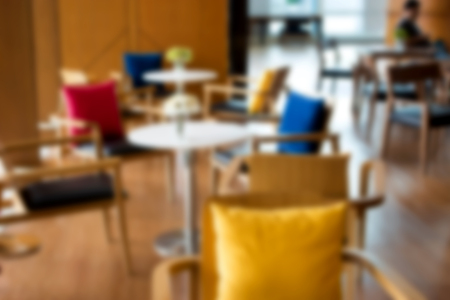 dring: blur cafe table or meeting space with wood decoration