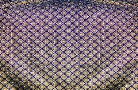 simetry: close up thai pattern silk fabric for background