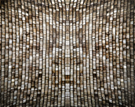 abstract background from wood roof top arranging Banco de Imagens